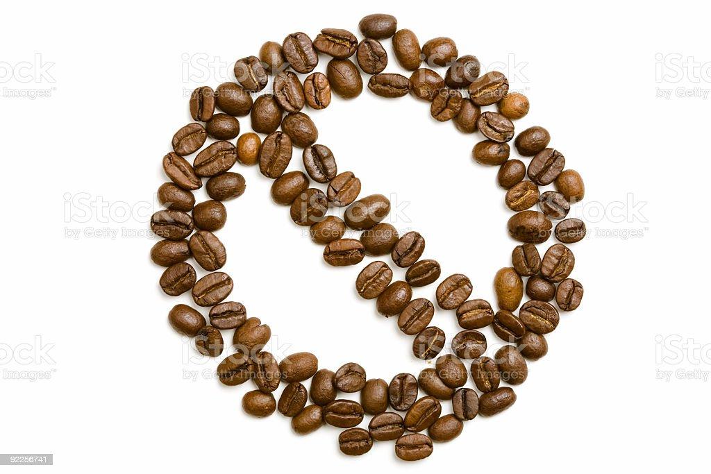 Coffee Beans - Forbidden Symbol royalty-free stock photo