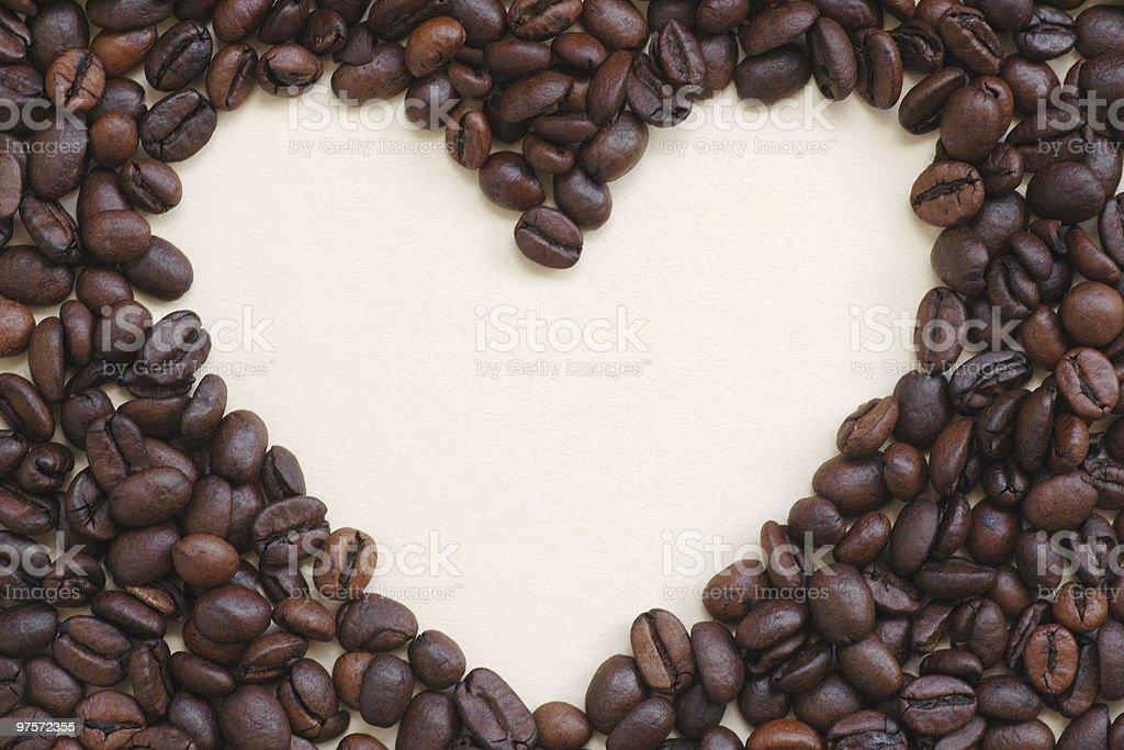 Cadre de grains de café (centre photo libre de droits