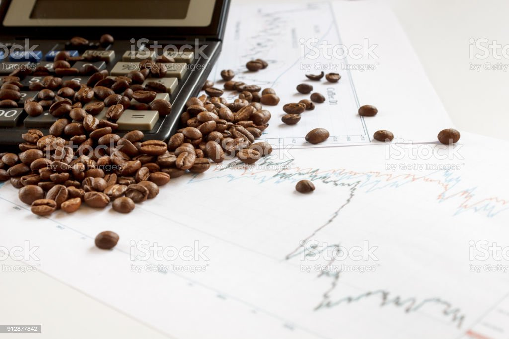 Coffee Beans Futures Chart Fresh Coffee Lies On Graphics Of