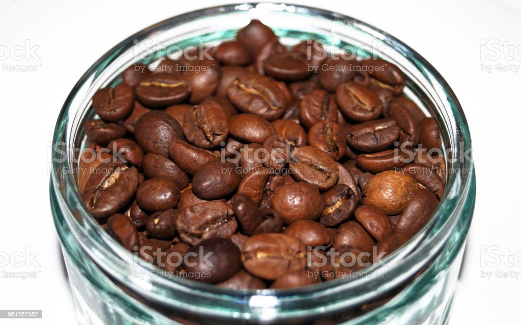 Coffee beans in a small glass dish royalty-free stock photo