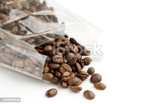 istock coffee beans in a transparent bag 469908909