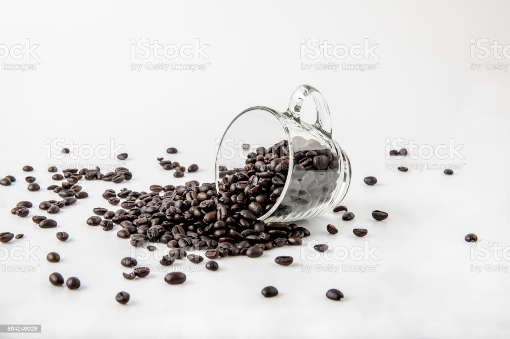 coffee beans in glass cup royalty-free stock photo