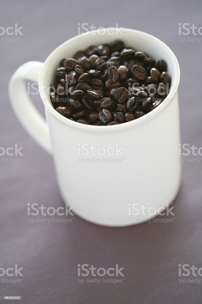 Coffee Beans In Mug royalty-free stock photo