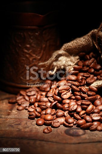 istock Coffee Beans In Sack 502723720