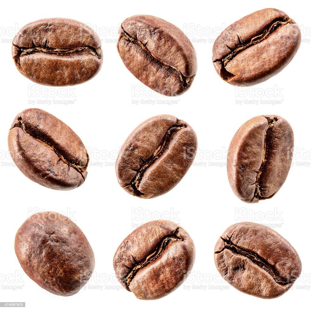 Kaffeebohnen, isoliert auf weiß.  - Kollektion – Foto