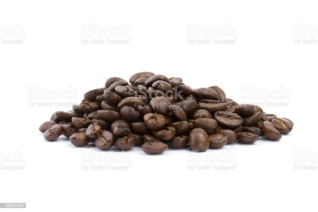 coffee beans isolated on white royalty-free stock photo