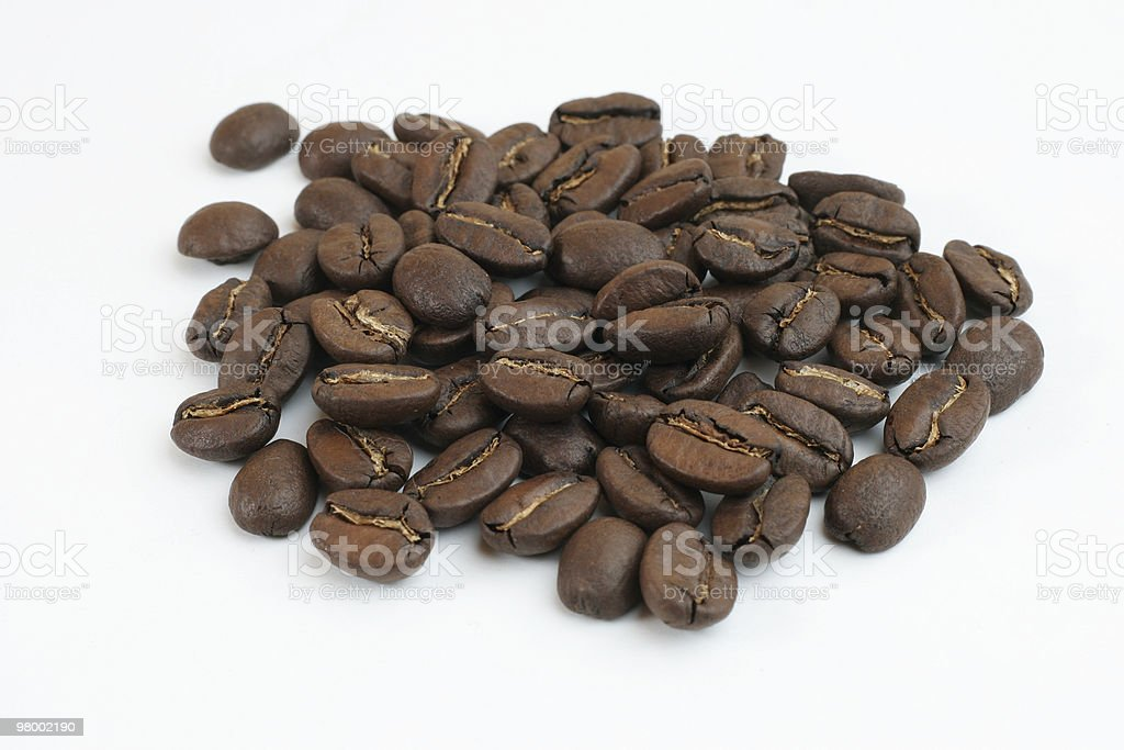 Coffee beans isolated royalty-free stock photo