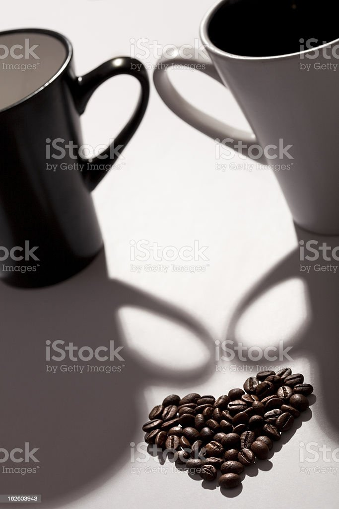 coffee beans like a heart royalty-free stock photo