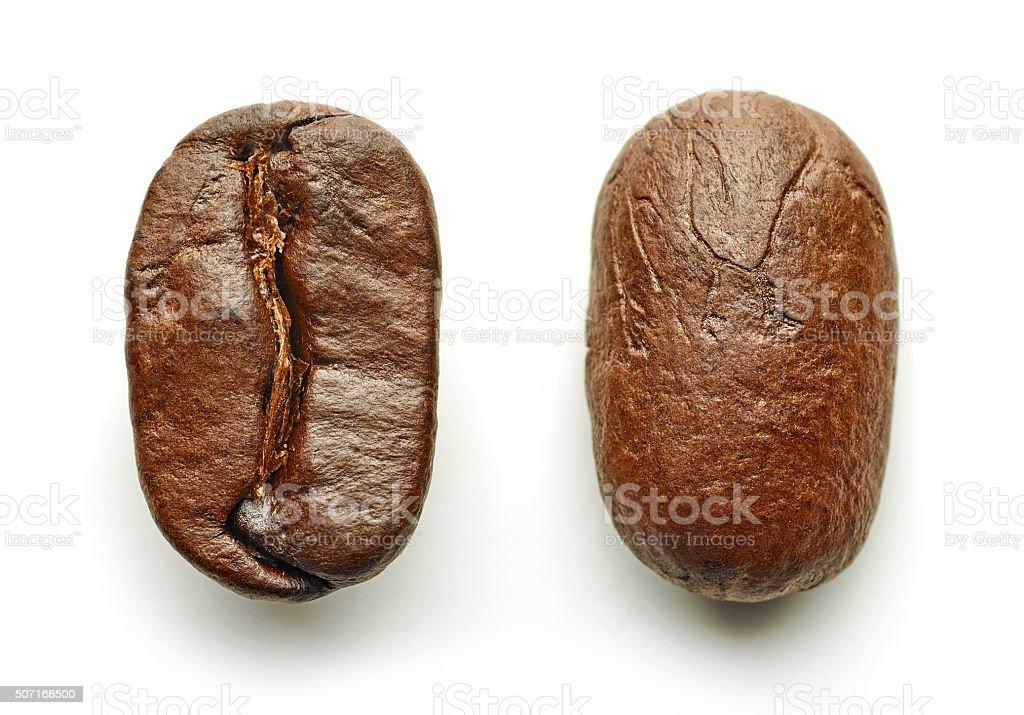 Coffee beans macro stock photo
