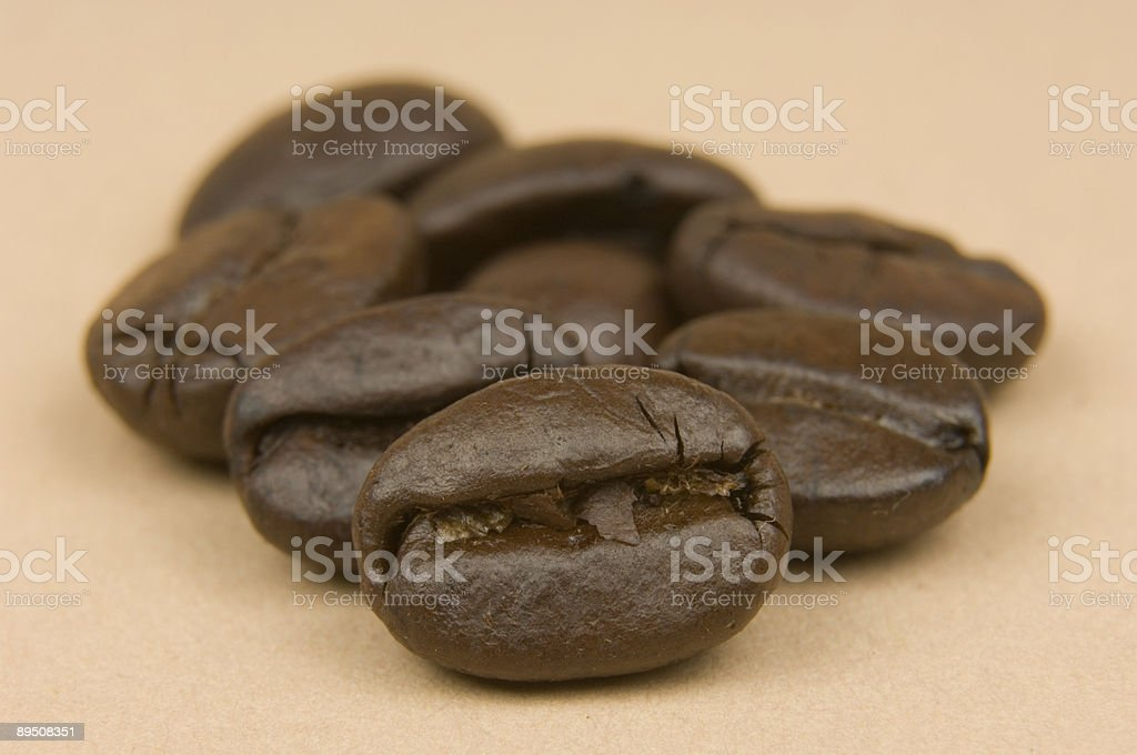 Coffee Beans on Brown Background royalty-free stock photo