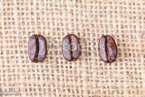 Macro Photo of Coffee Beans on Burlap