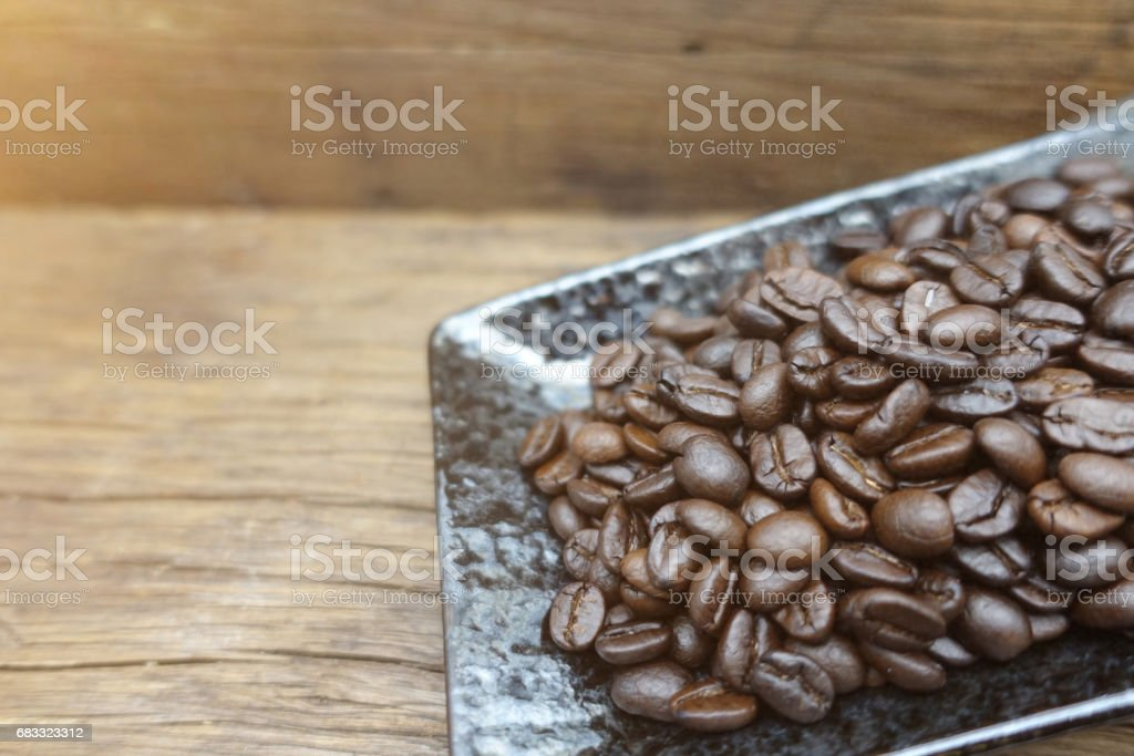Coffee beans on table foto stock royalty-free