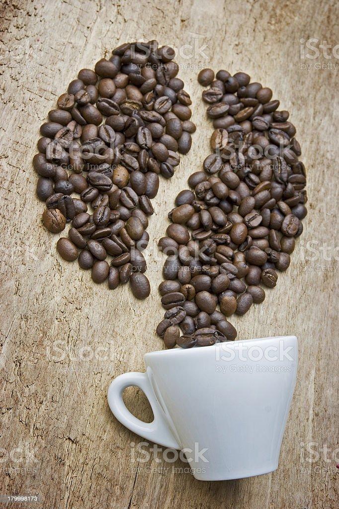 커피 원두 보드에 royalty-free 스톡 사진