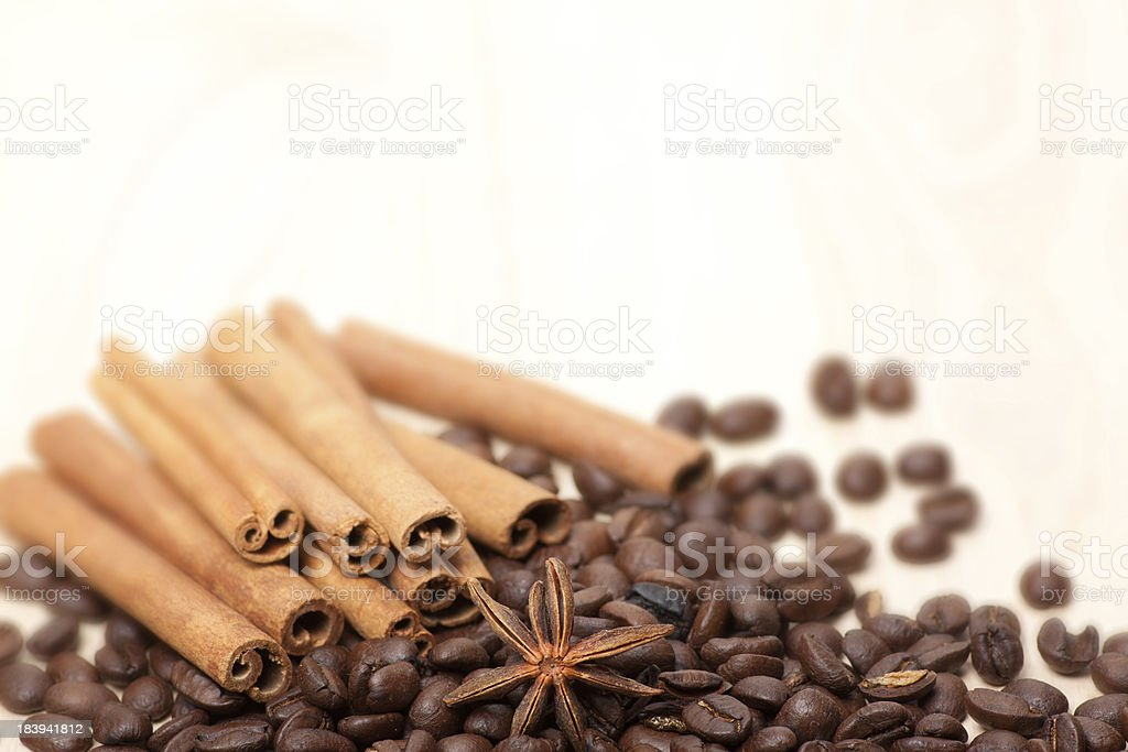 coffee beans on the table royalty-free stock photo
