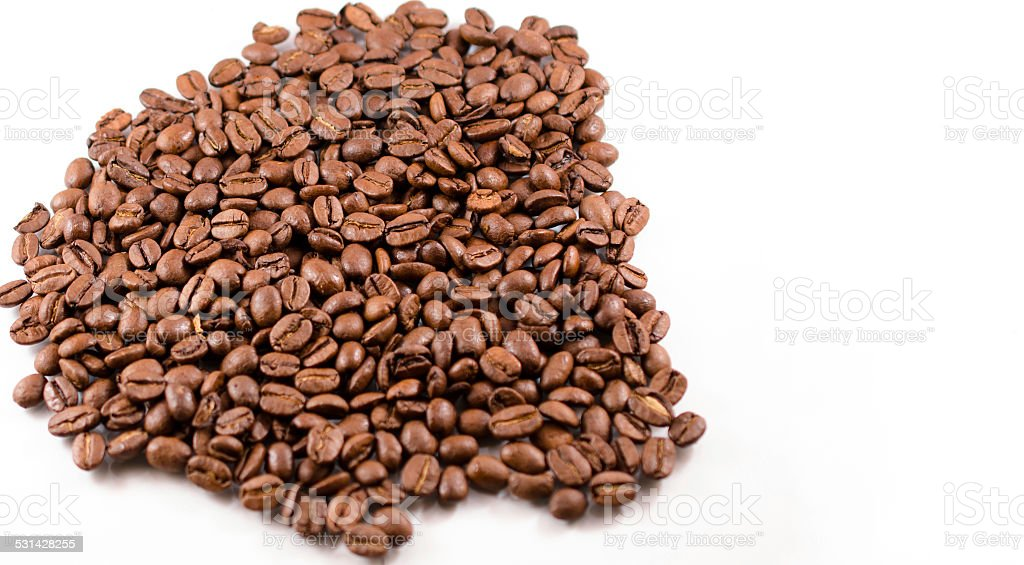 Coffee Beans on white background stock photo