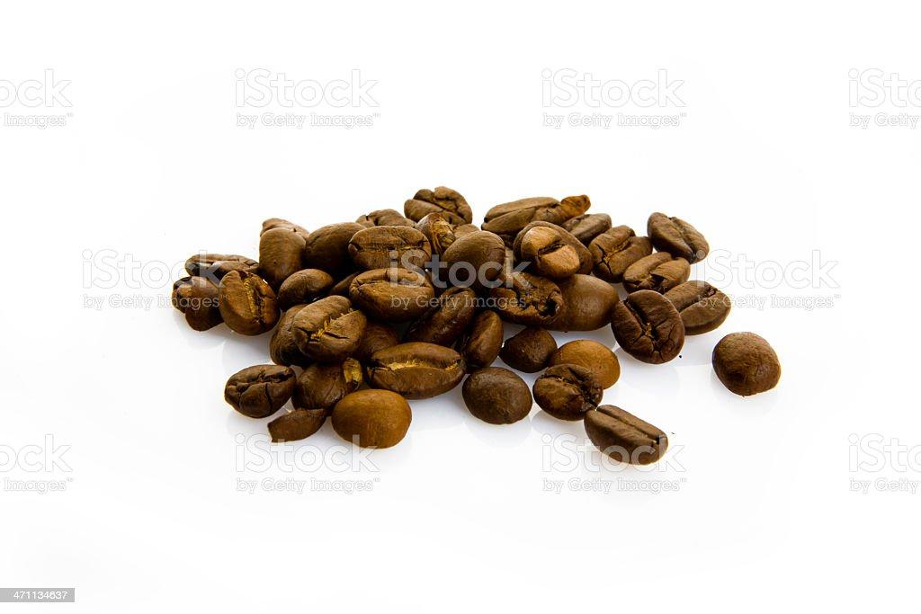 coffee beans on white royalty-free stock photo