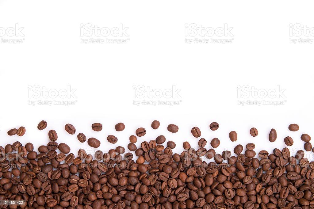 coffee beans on white stock photo