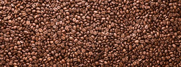 Coffee beans panoramic background stock photo