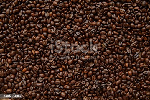 Full frame Coffee Beans background