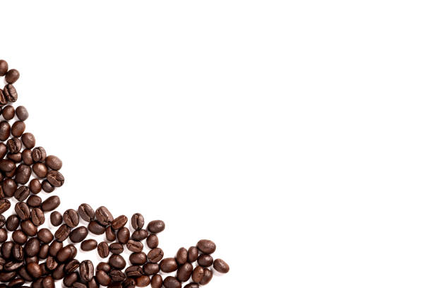 Coffee beans. Coffee beans on white background. roasted coffee bean stock pictures, royalty-free photos & images