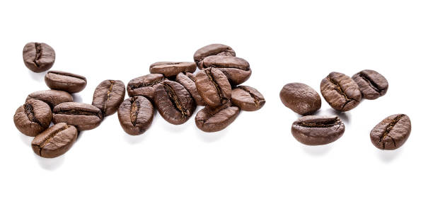Coffee beans Coffee beans isolated roasted coffee bean stock pictures, royalty-free photos & images