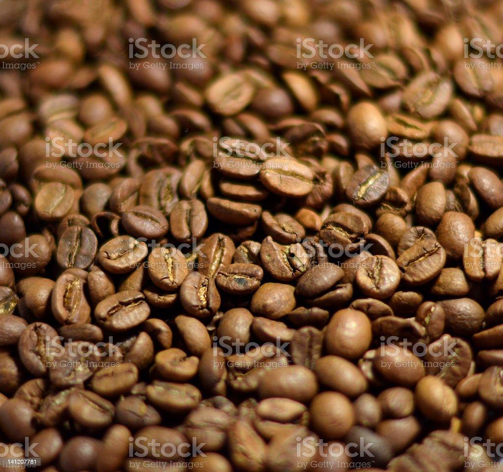 coffee beans Brown Coffee Beans Heap Texture. Caffeine Stock Photo