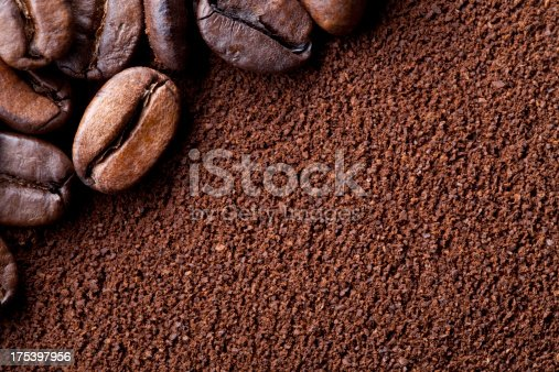 Coffee beans and ground coffee.To see more Coffee images click on the link below: