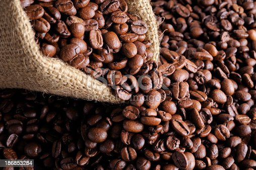 Close up of Coffee Beans.