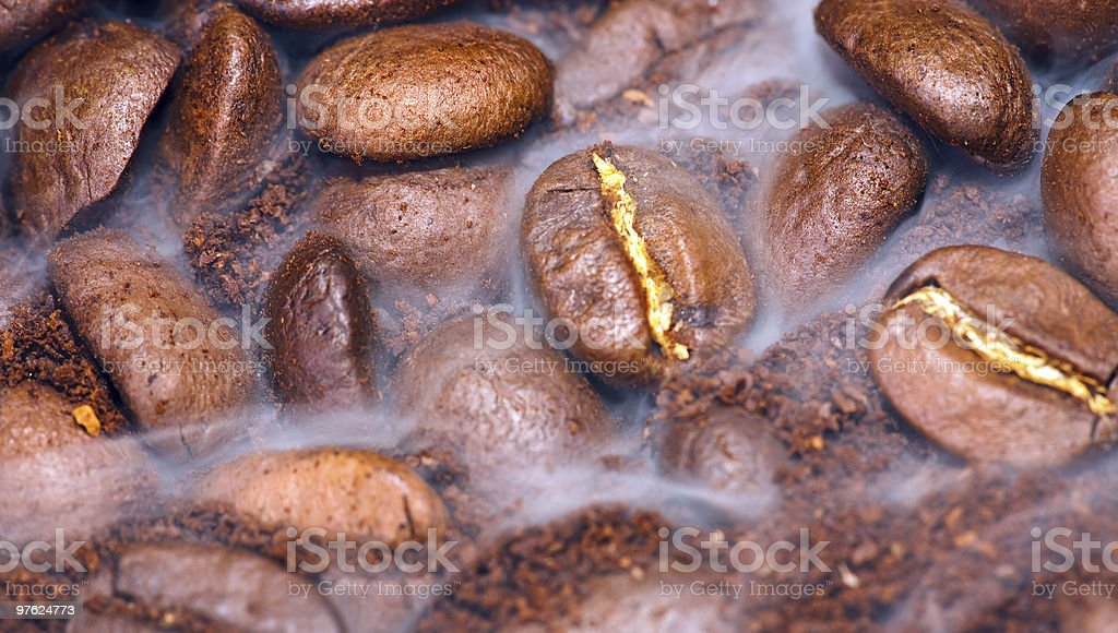 coffee beans (shallow DoF) royalty-free stock photo