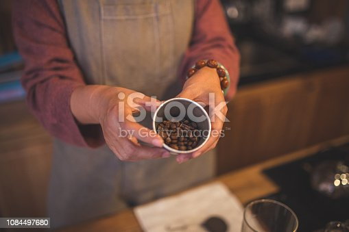 istock Coffee beans ready for grounding 1084497680