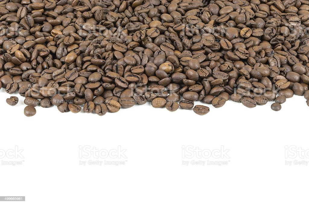 Coffee beans stripe royalty-free stock photo