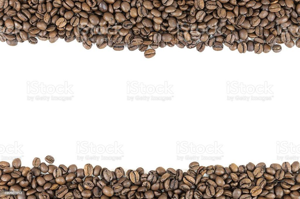Coffee beans stripes royalty-free stock photo