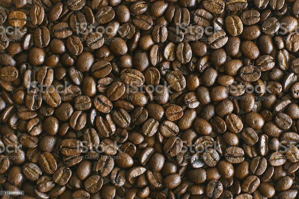 Coffee beans texture royalty-free stock photo