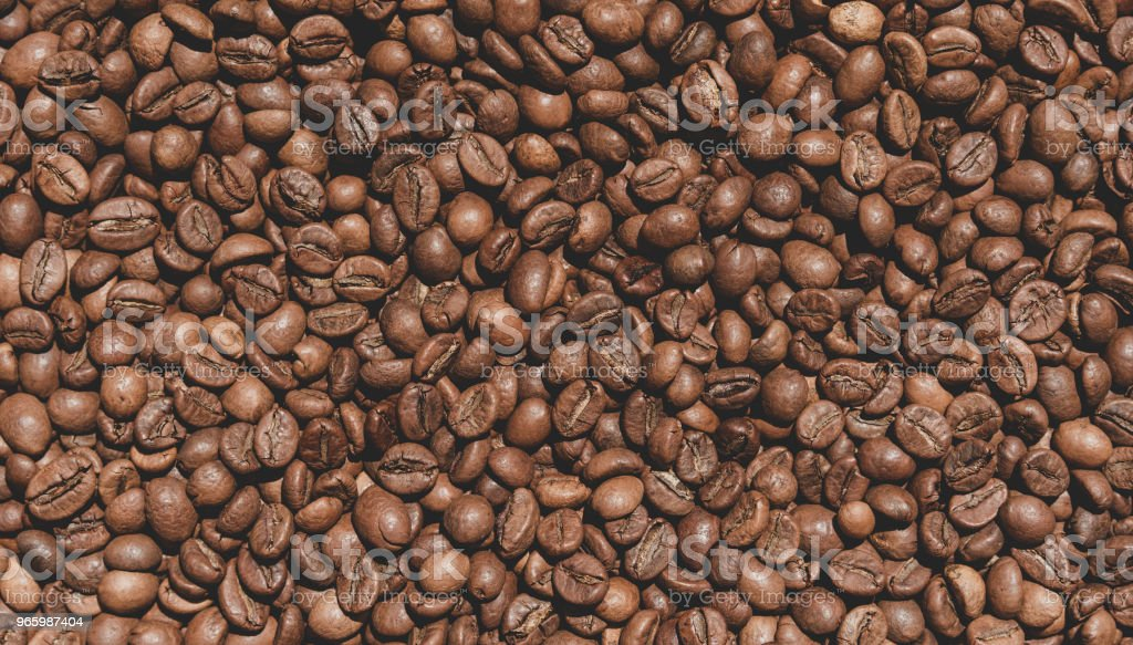 Kaffebönor textur - Royaltyfri Arabicakaffe - Gröda Bildbanksbilder