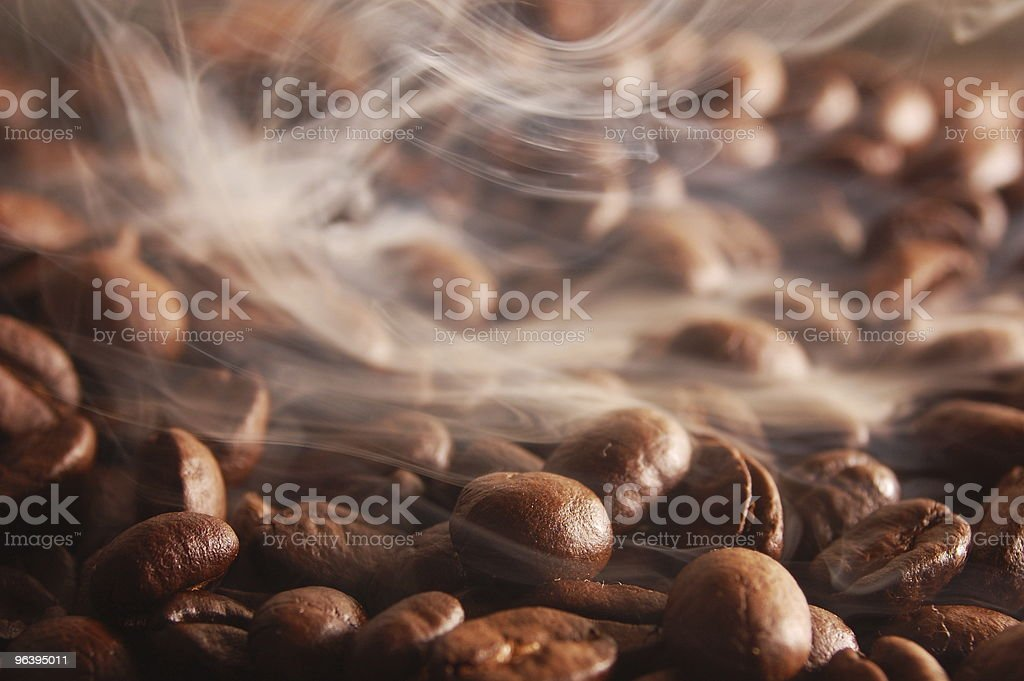 coffee beans with steam - Royalty-free Backgrounds Stock Photo