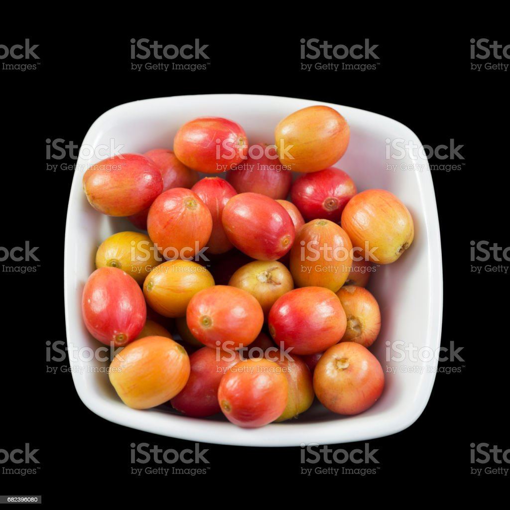 Coffee Beans Yellow and Half-ripe royalty-free stock photo