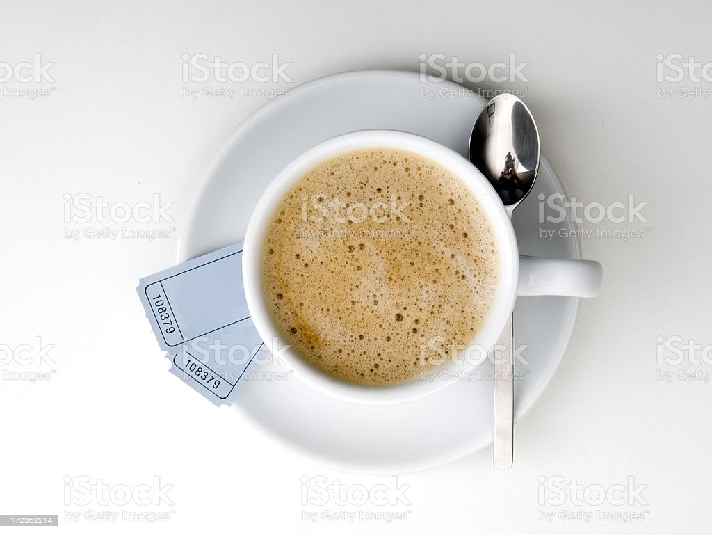 Coffee before the cinema royalty-free stock photo