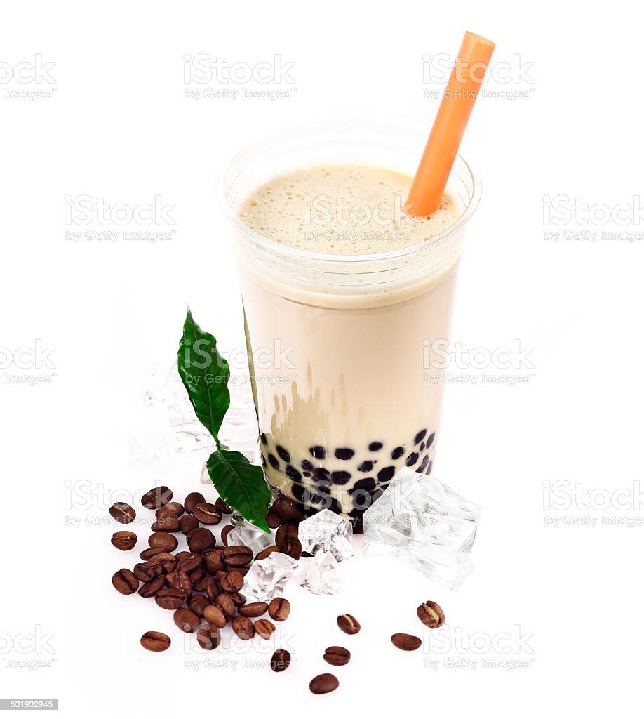 Coffee Boba Bubble Tea stock photo