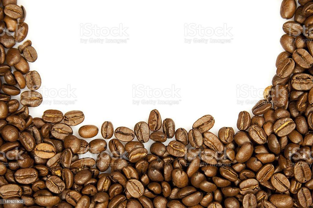 Coffee Border. royalty-free stock photo