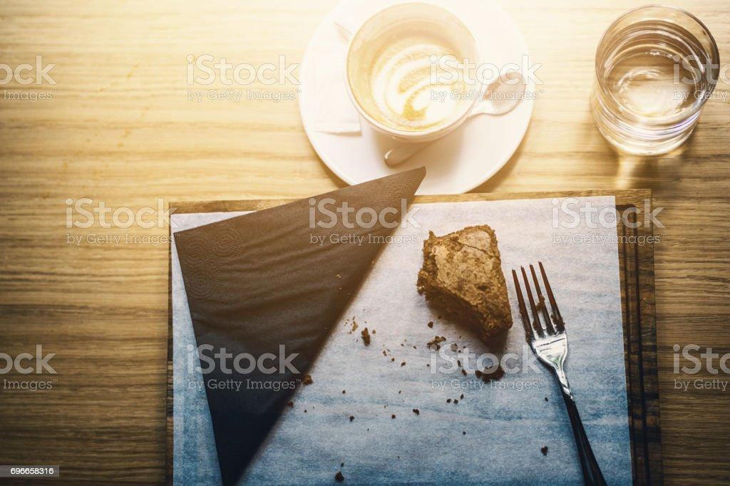 Coffee break and a sweet treat.