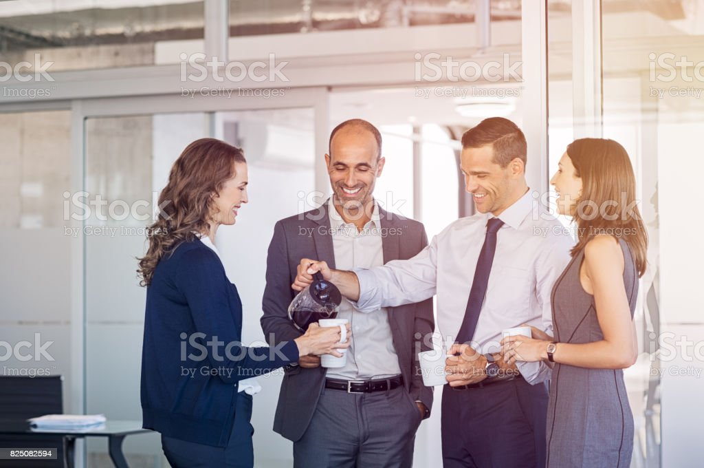Coffee break at office royalty-free stock photo