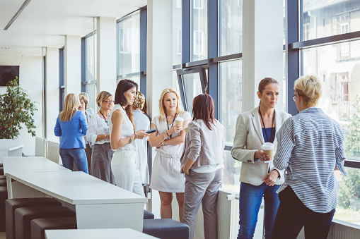 Coffee Break During A Seminar Stock Photo - Download Image Now