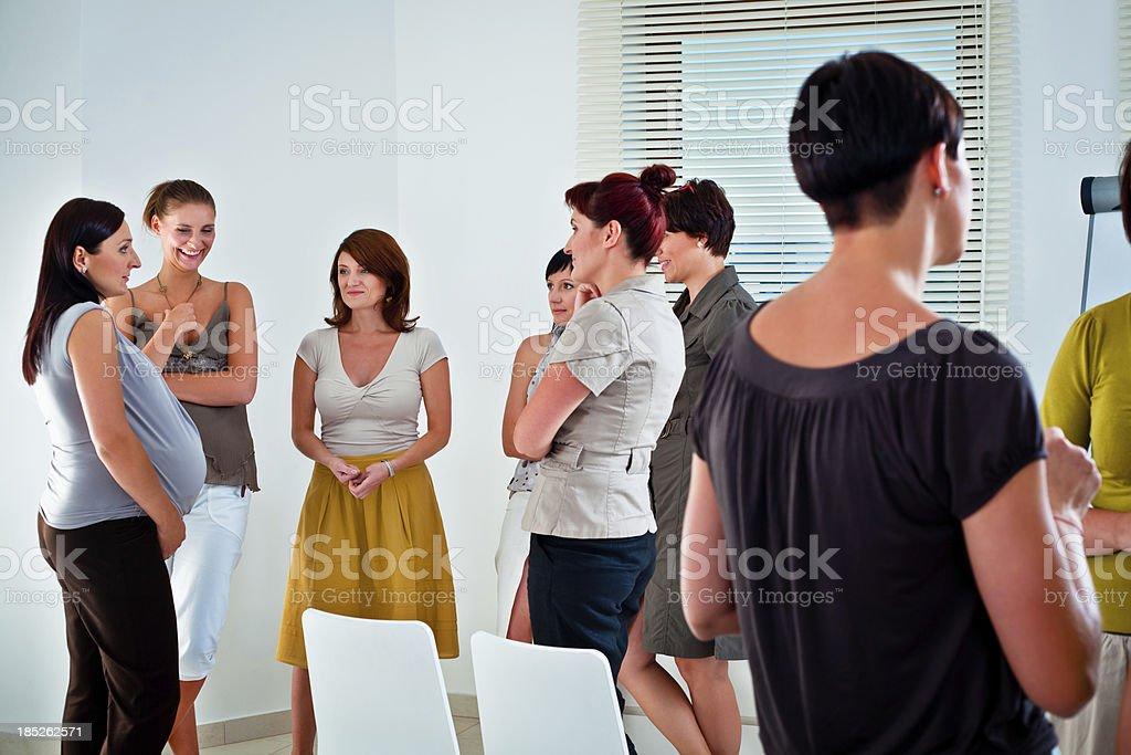 Coffee break during meeting stock photo