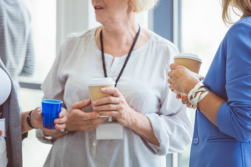 Coffee Break During Seminar Stock Photo - Download Image Now