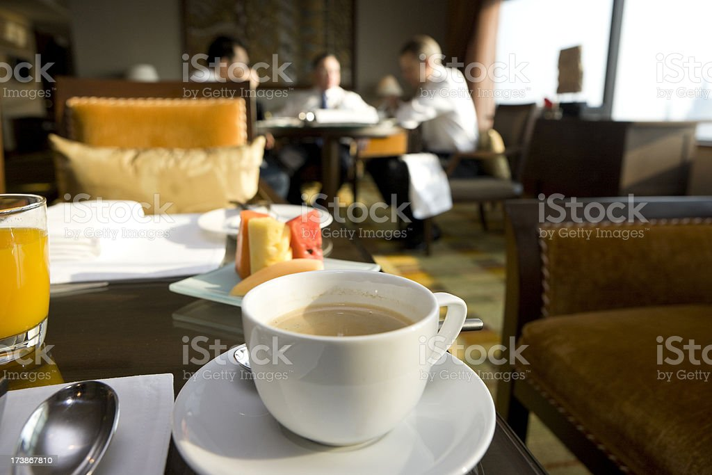 Coffee Break for  businesspeople stock photo