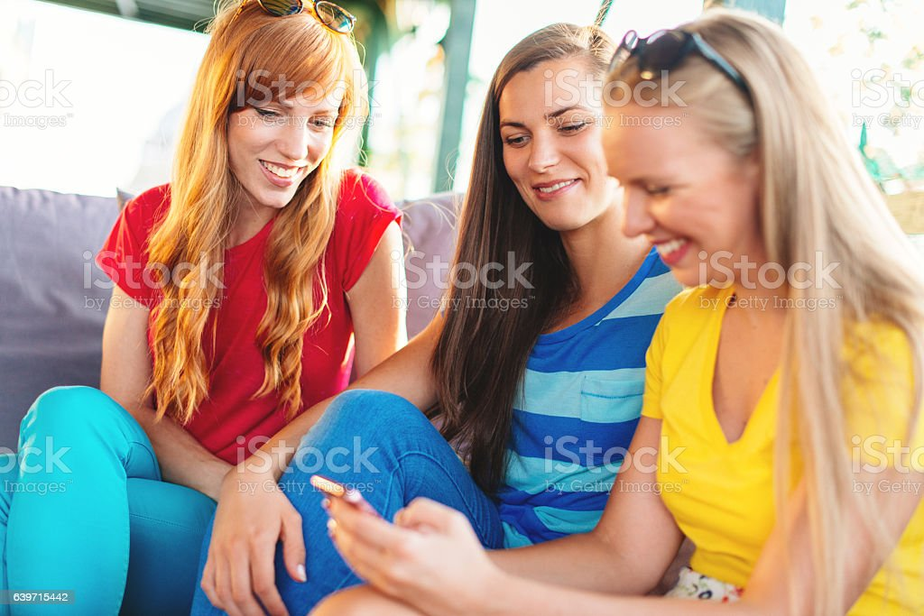 Coffee Break For Three Best Friends Stock Photo Download Image Now Istock