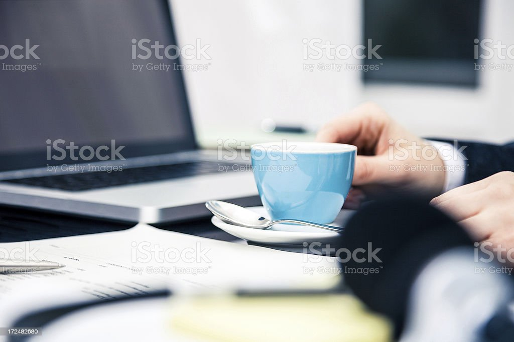 Coffee break in the office royalty-free stock photo