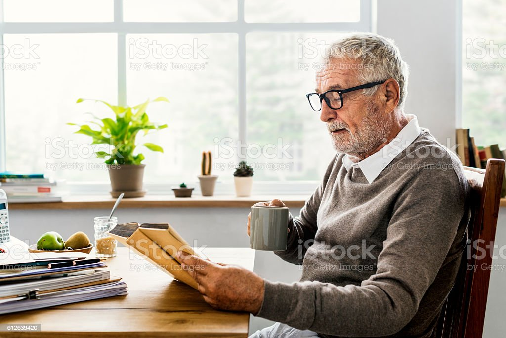 Coffee Break Reading Travel Book Lifestyle Concept stock photo