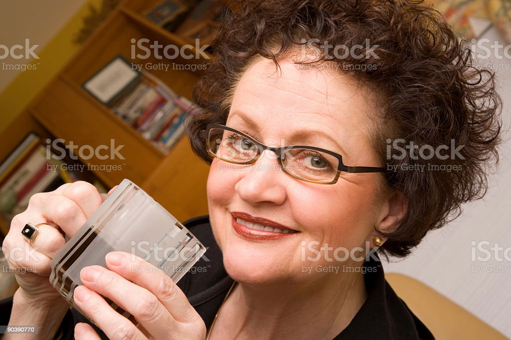 Coffee Break with a Smile royalty-free stock photo