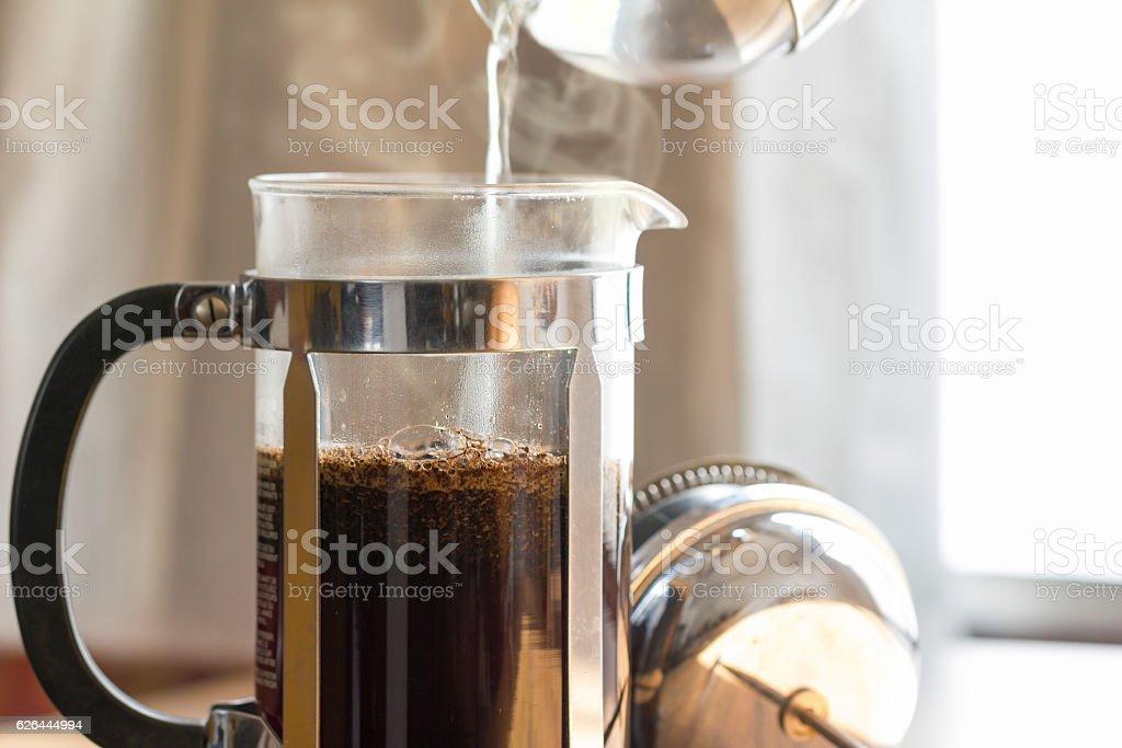Coffee Brewing stock photo